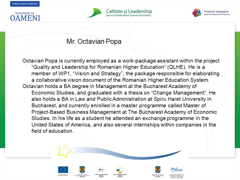Mr. Octavian Popa