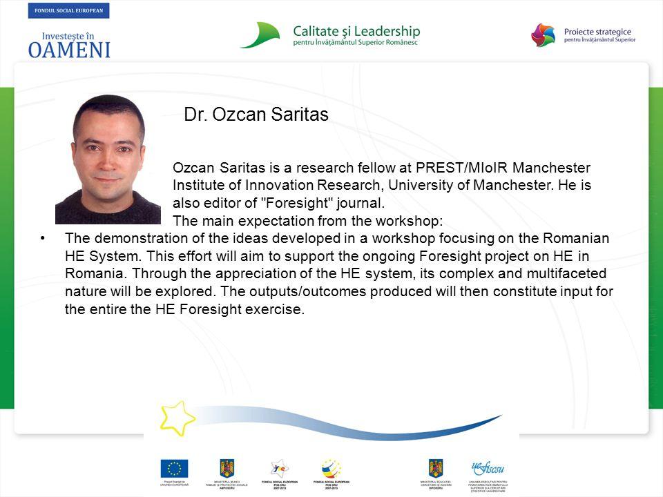 Dr. Ozcan Saritas