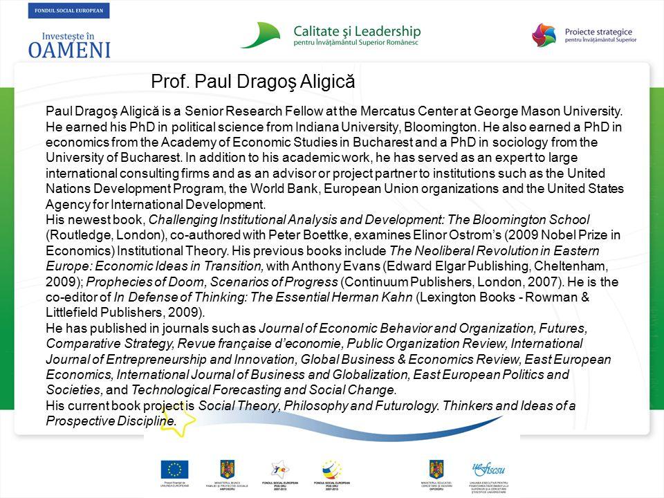 Prof. Paul Dragoş Aligică