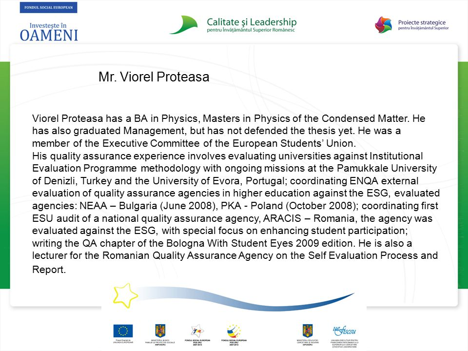 Mr. Viorel Proteasa