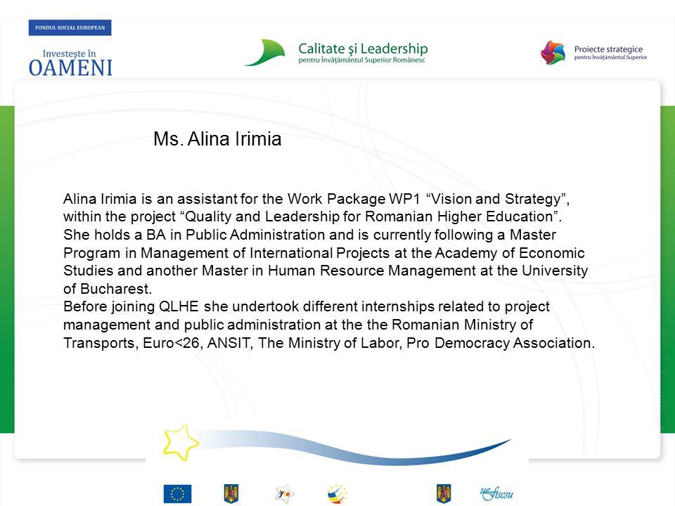 Ms. Alina Irimia