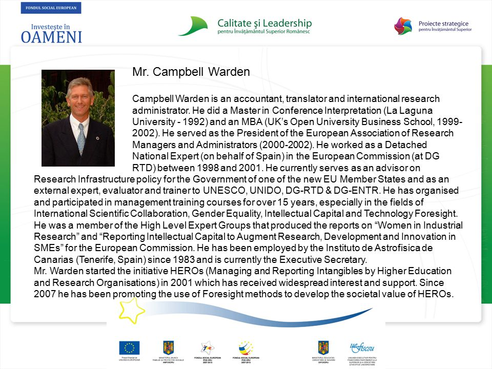 Mr. Campbell Warden