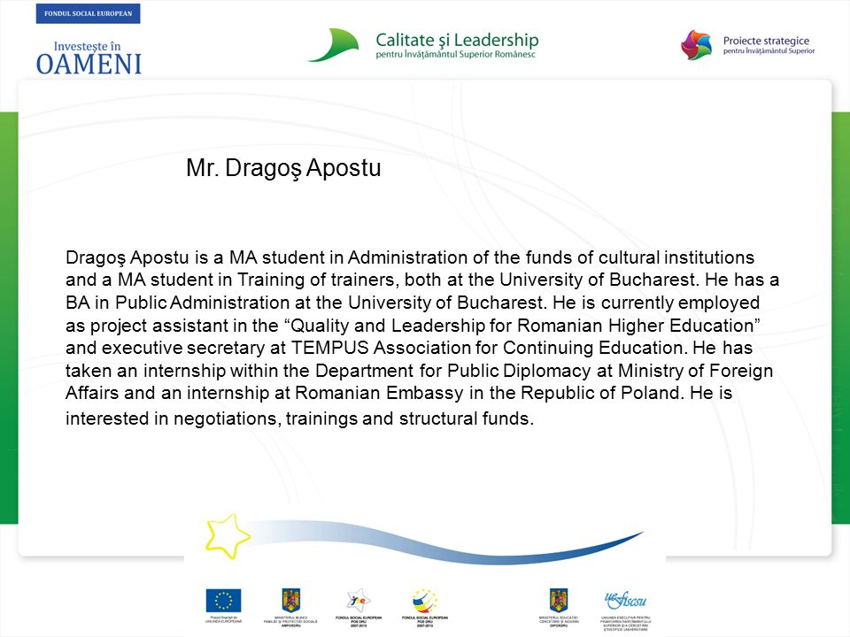 Mr. Dragoş Apostu