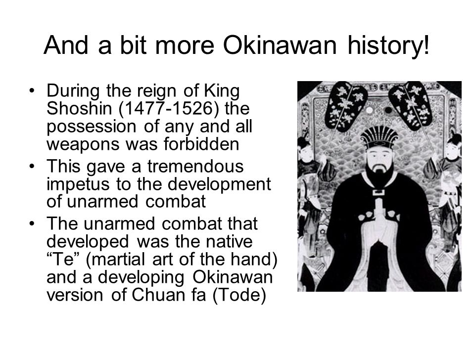 And a bit more Okinawan history!