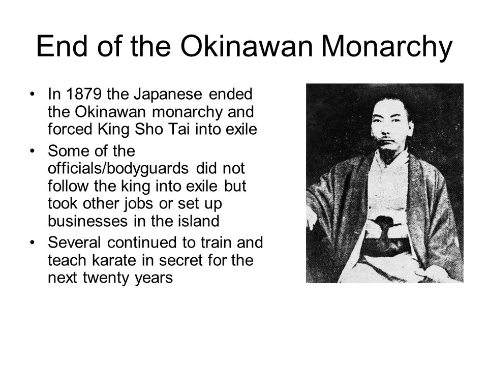 End of the Okinawan Monarchy