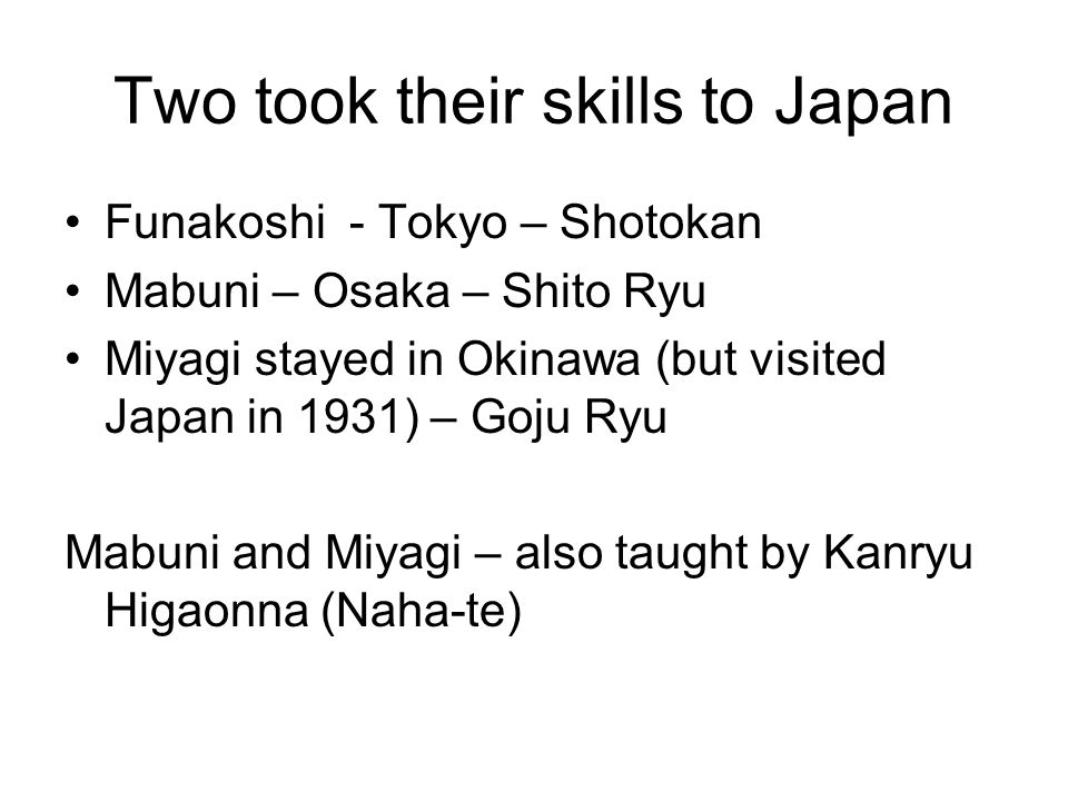 Two took their skills to Japan