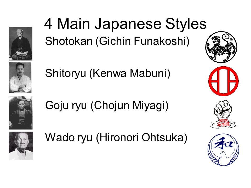 4 Main Japanese Styles Shotokan (Gichin Funakoshi)