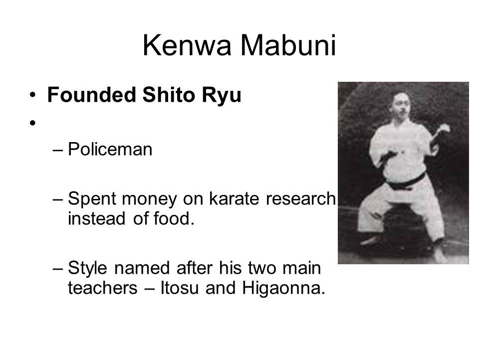 Kenwa Mabuni Founded Shito Ryu Policeman