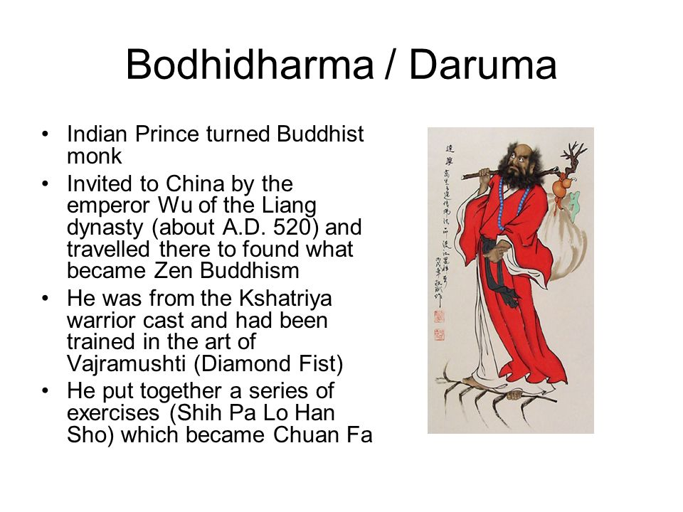 Bodhidharma / Daruma Indian Prince turned Buddhist monk
