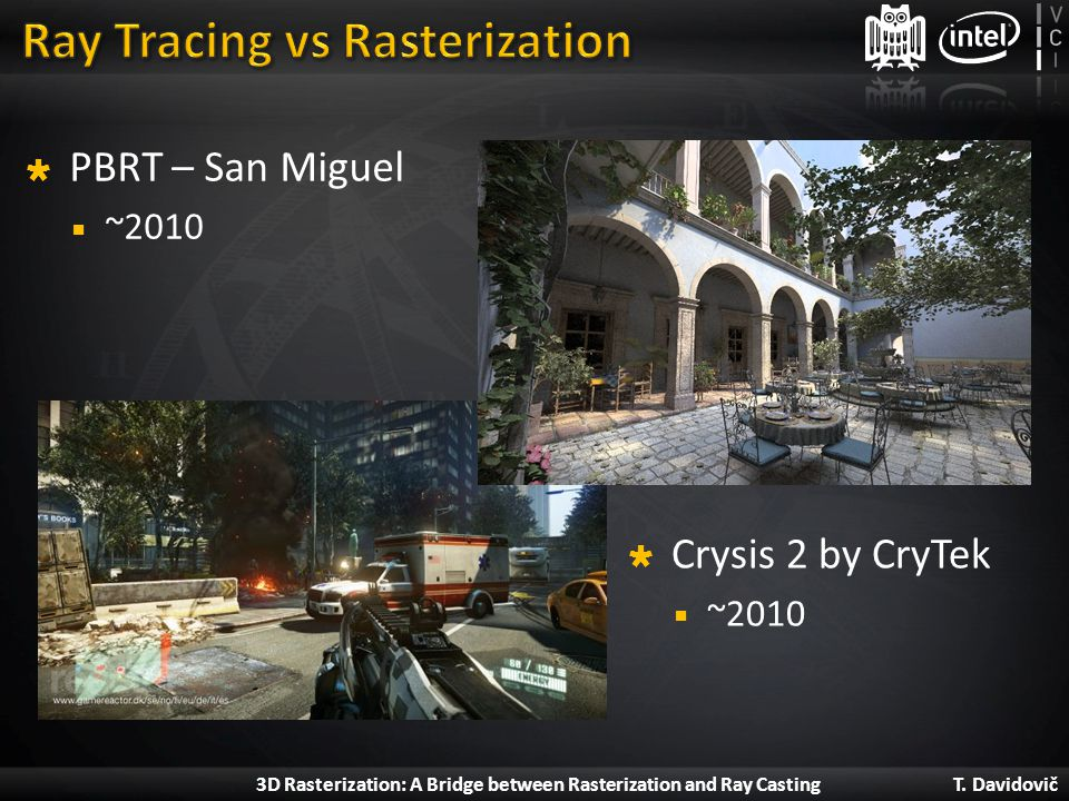 Ray Tracing vs Rasterization
