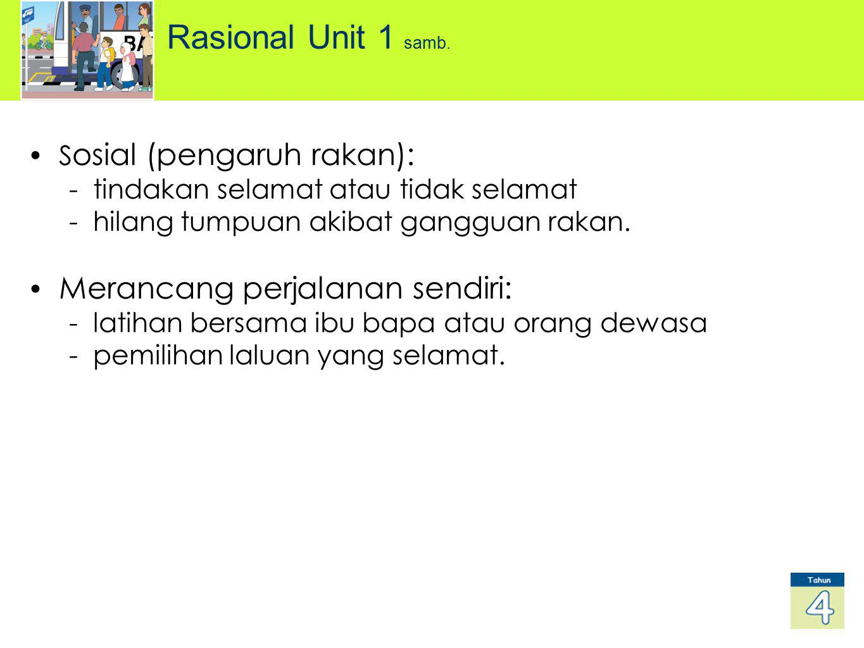 Rasional Unit 1 samb. Sosial (pengaruh rakan):