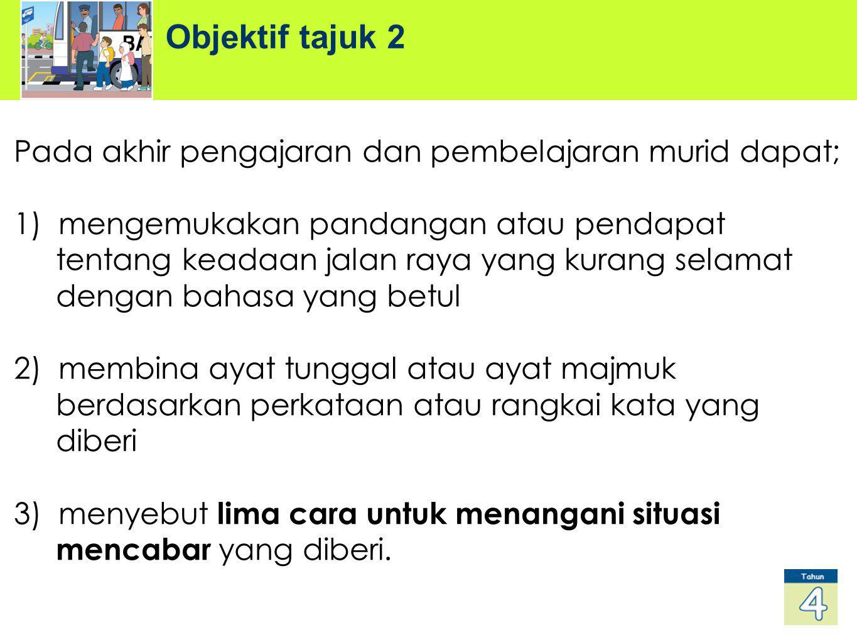 Objektif tajuk 2 Pada akhir pengajaran dan pembelajaran murid dapat;