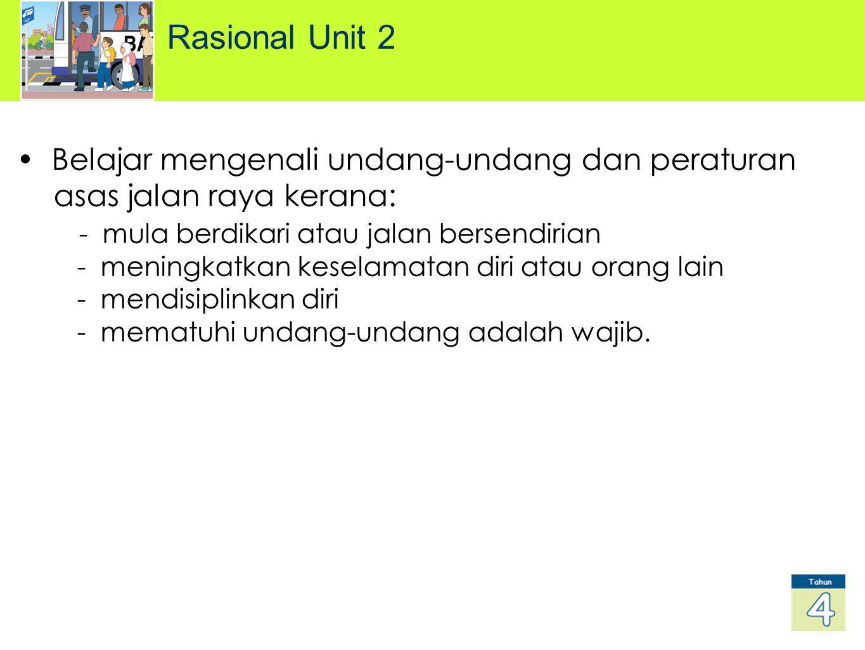 Rasional Unit 2 Belajar mengenali undang-undang dan peraturan