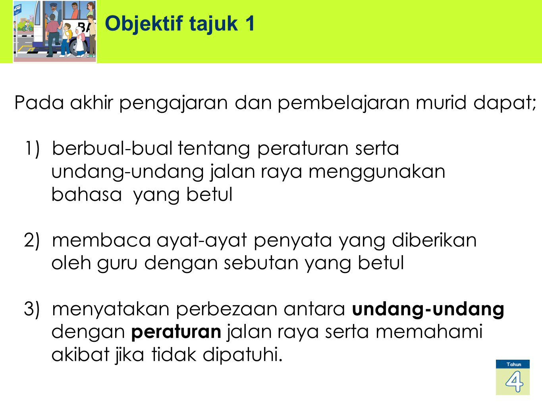 Objektif tajuk 1 Pada akhir pengajaran dan pembelajaran murid dapat;