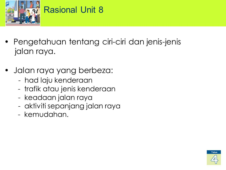 Rasional Unit 8 Pengetahuan tentang ciri-ciri dan jenis-jenis