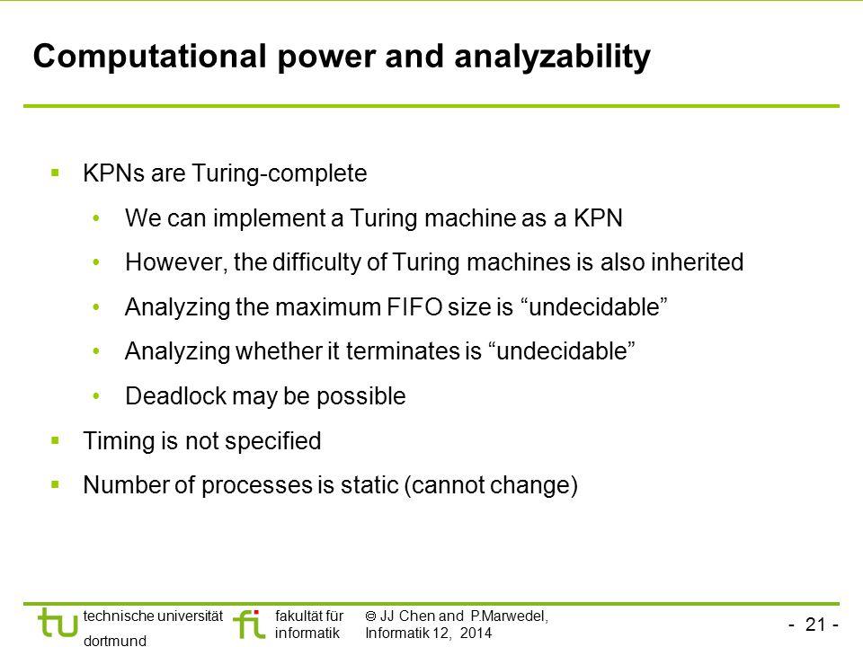 Computational power and analyzability