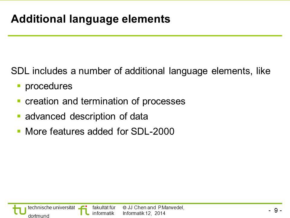 Additional language elements
