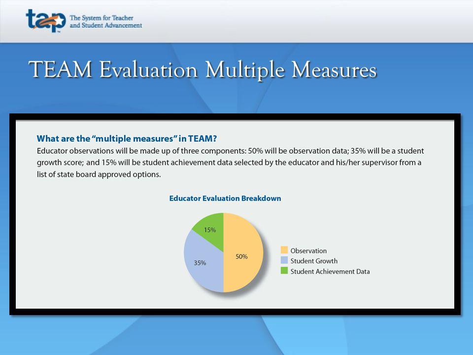 TEAM Evaluation Multiple Measures