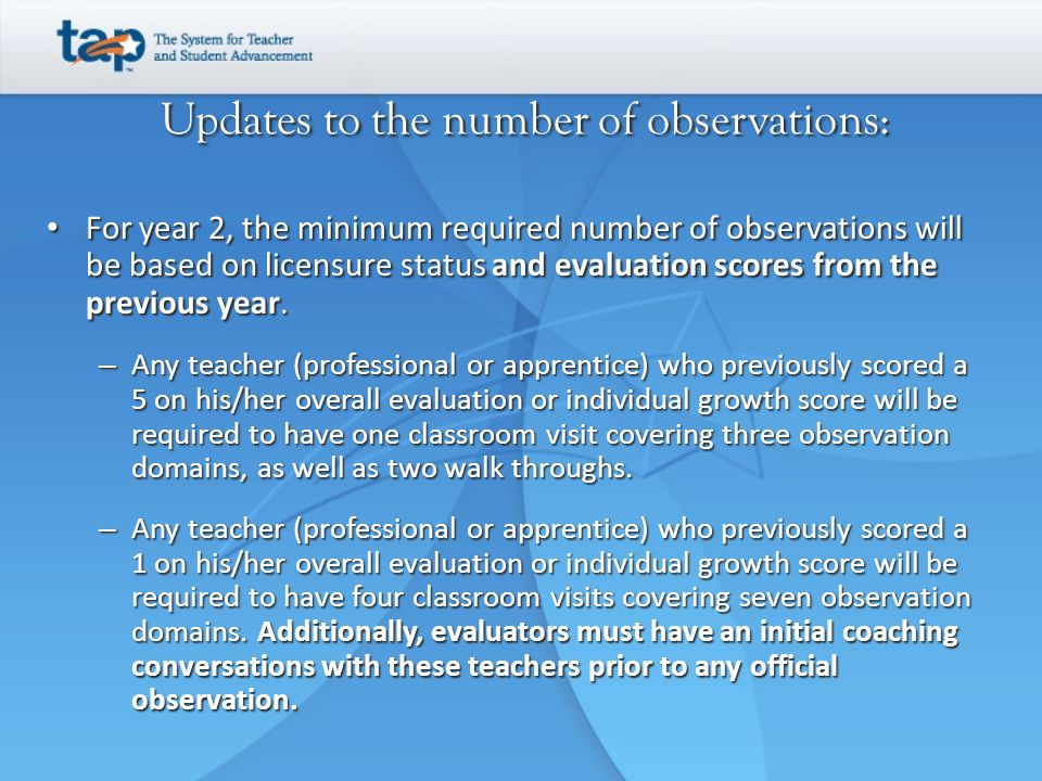 Updates to the number of observations: