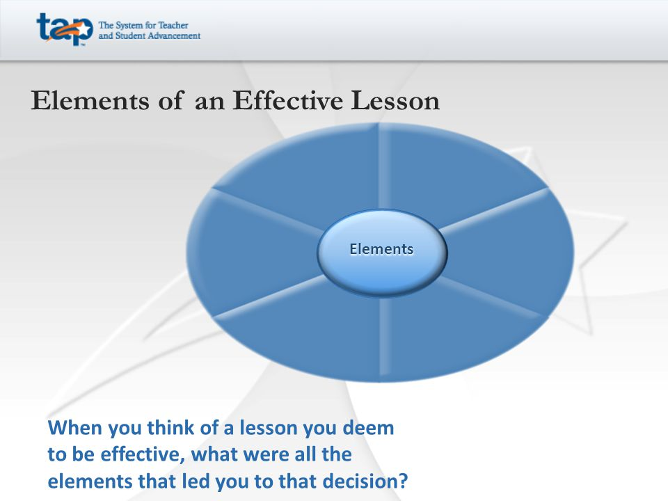 Elements of an Effective Lesson