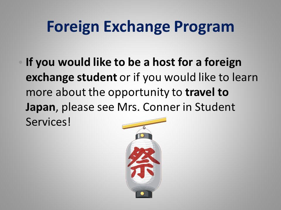 Foreign Exchange Program