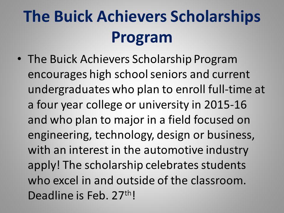 The Buick Achievers Scholarships Program