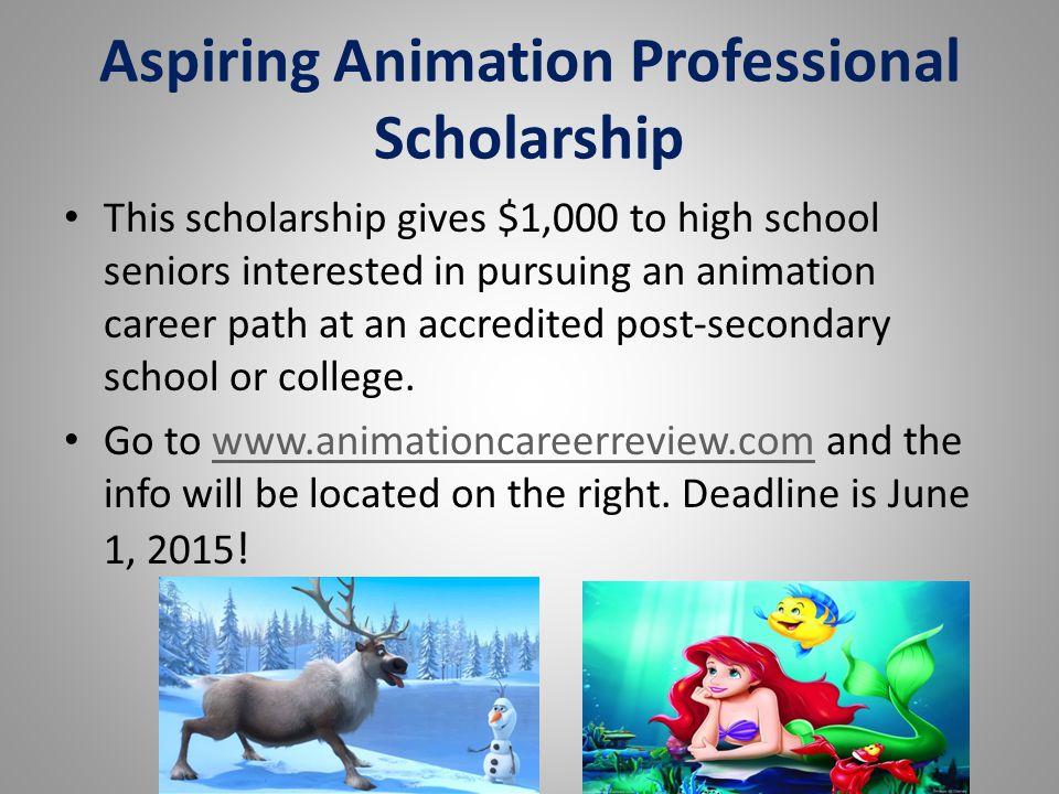 Aspiring Animation Professional Scholarship