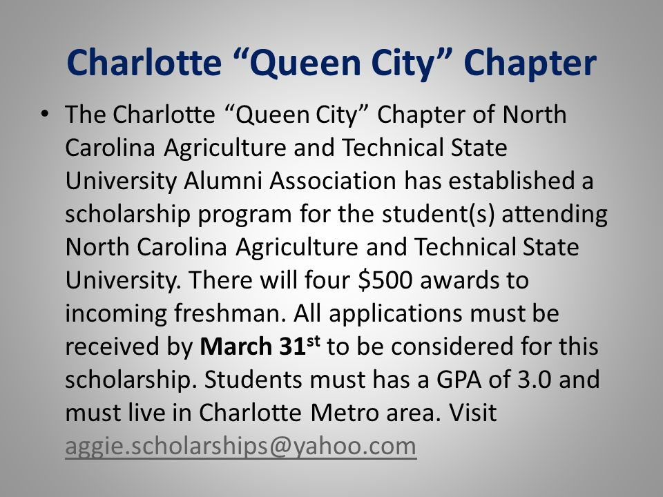 Charlotte Queen City Chapter