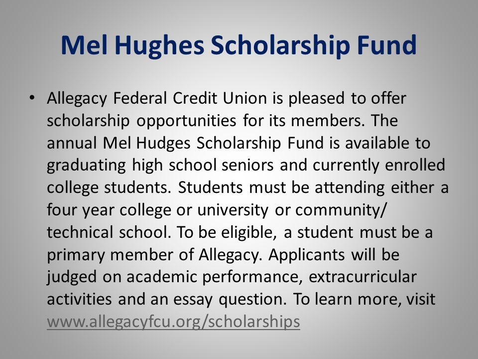 Mel Hughes Scholarship Fund