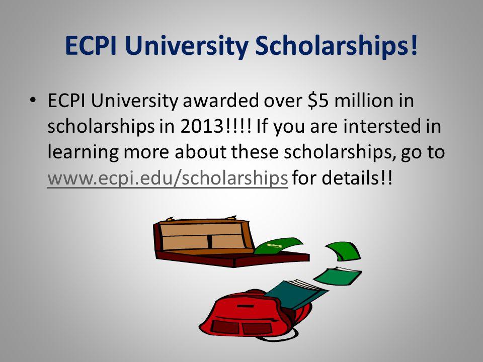 ECPI University Scholarships!
