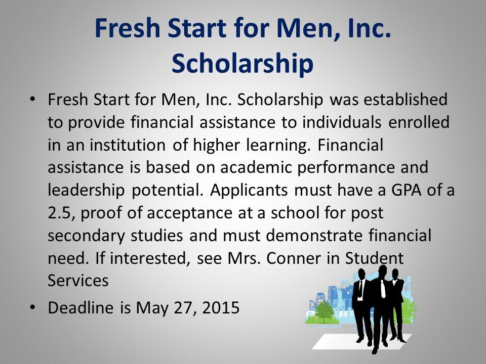 Fresh Start for Men, Inc. Scholarship