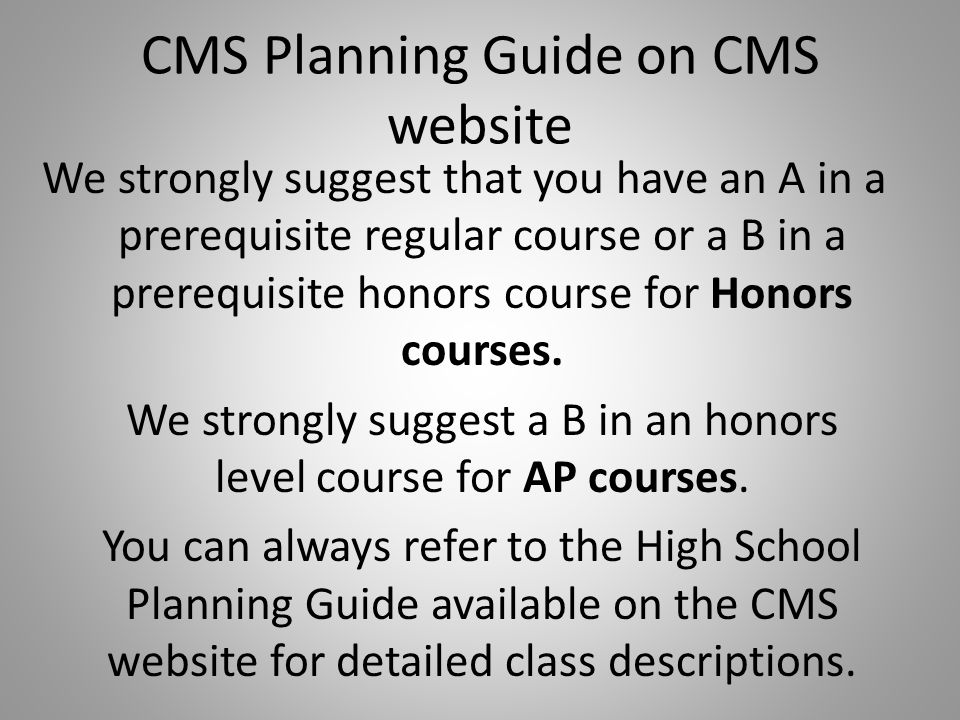 CMS Planning Guide on CMS website