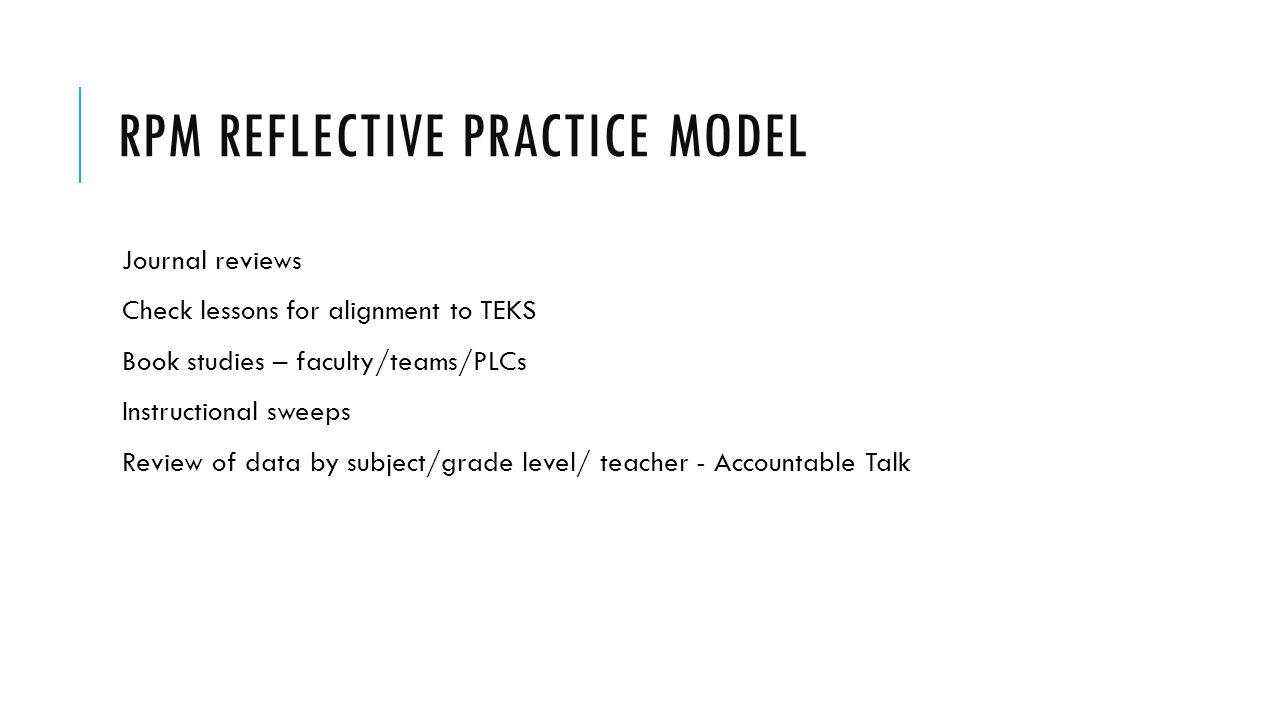 Rpm reflective practice model