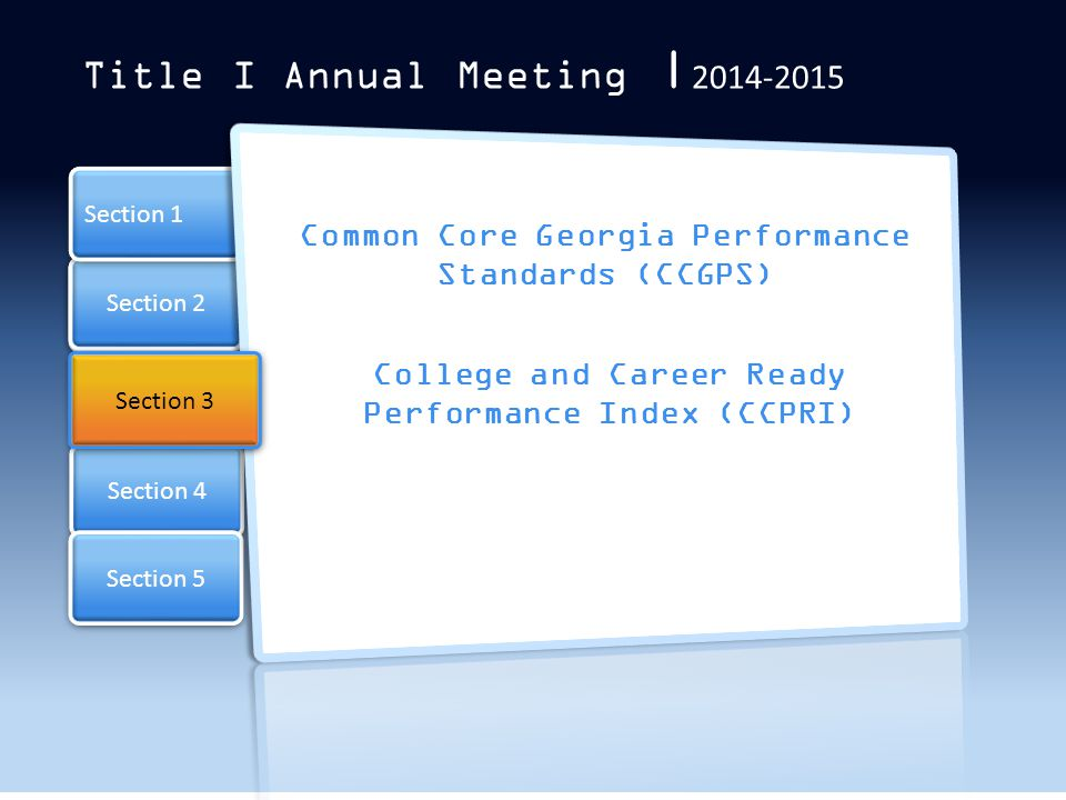 Title I Annual Meeting |2014-2015