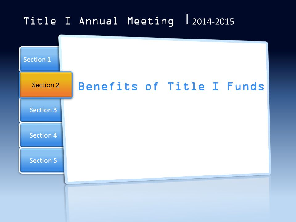 Benefits of Title I Funds