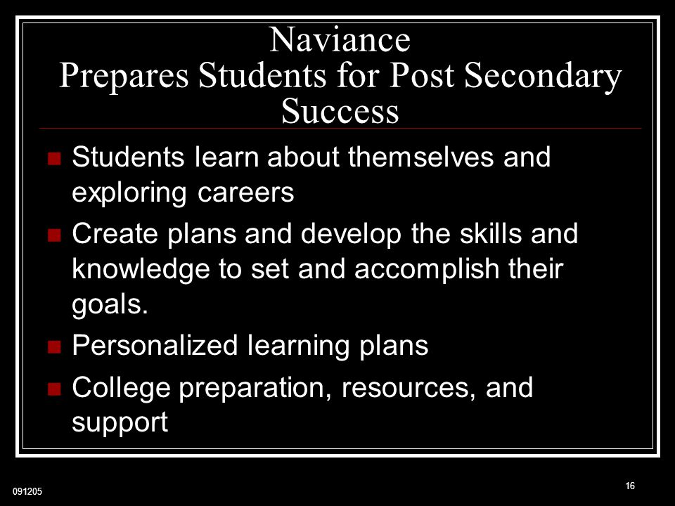 Naviance Prepares Students for Post Secondary Success