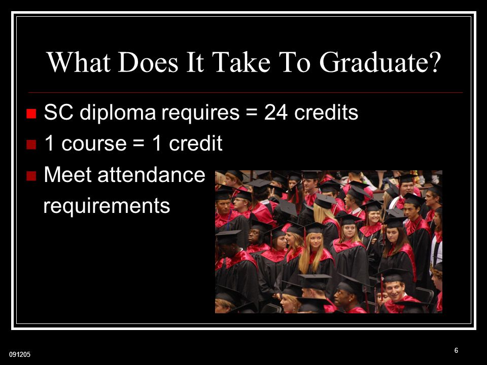 What Does It Take To Graduate