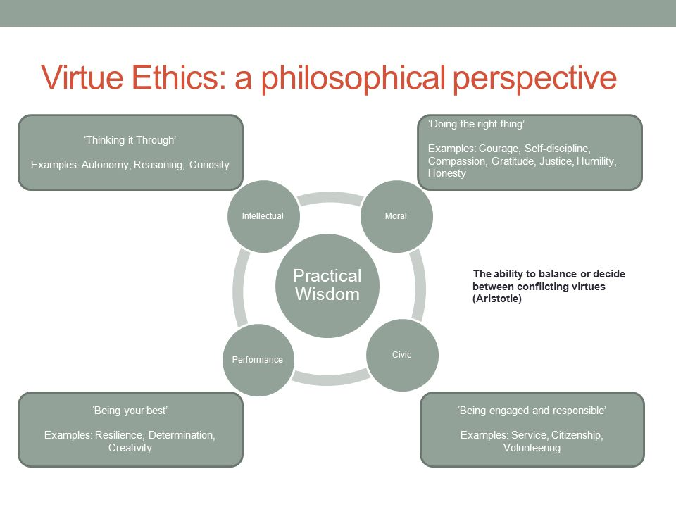 Virtue Ethics: a philosophical perspective