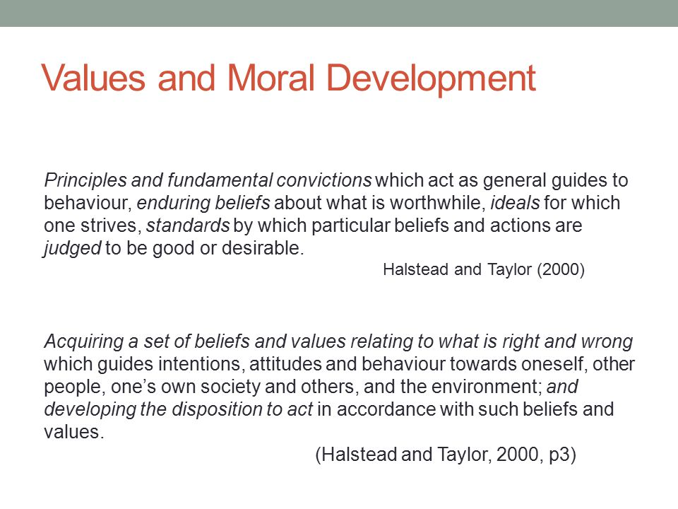 Values and Moral Development