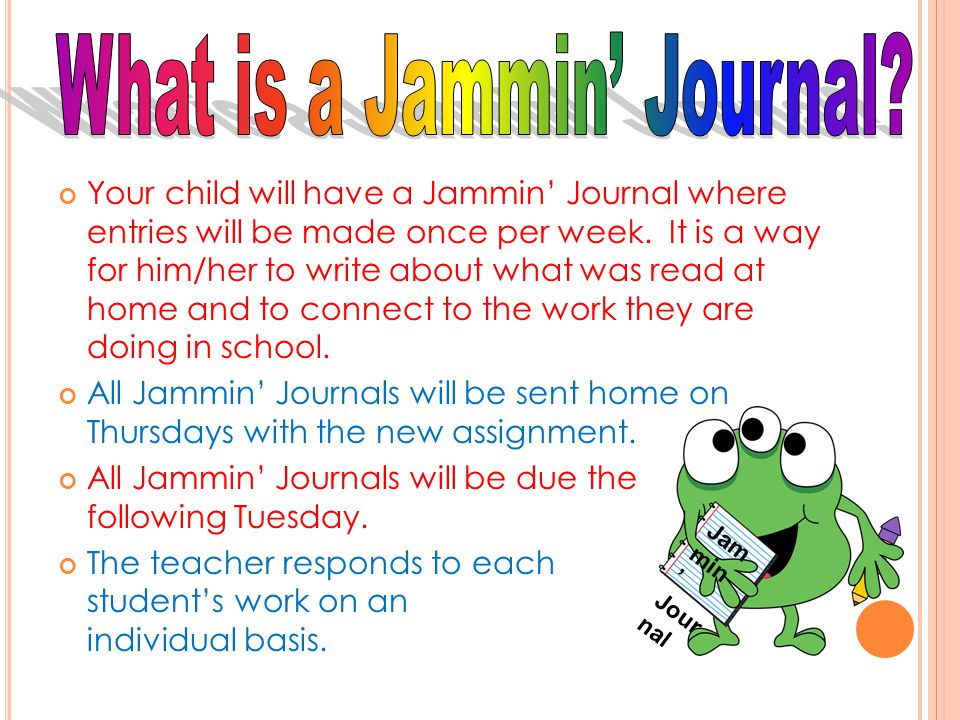 What is a Jammin' Journal