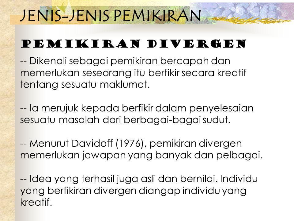 JENIS-JENIS PEMIKIRAN
