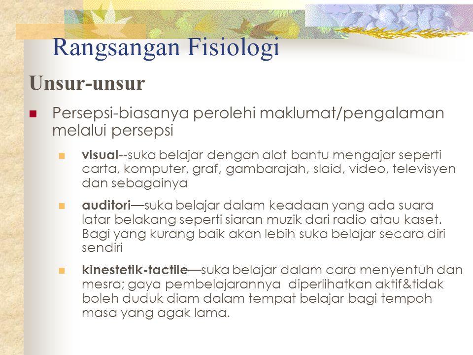 Rangsangan Fisiologi Unsur-unsur