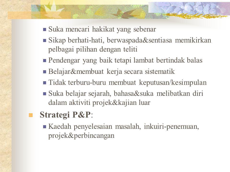 Strategi P&P: Suka mencari hakikat yang sebenar