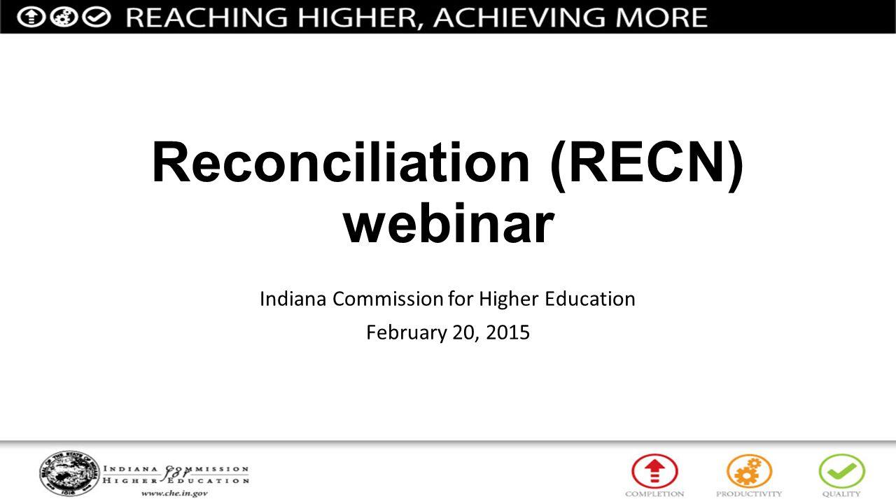 Reconciliation (RECN) webinar