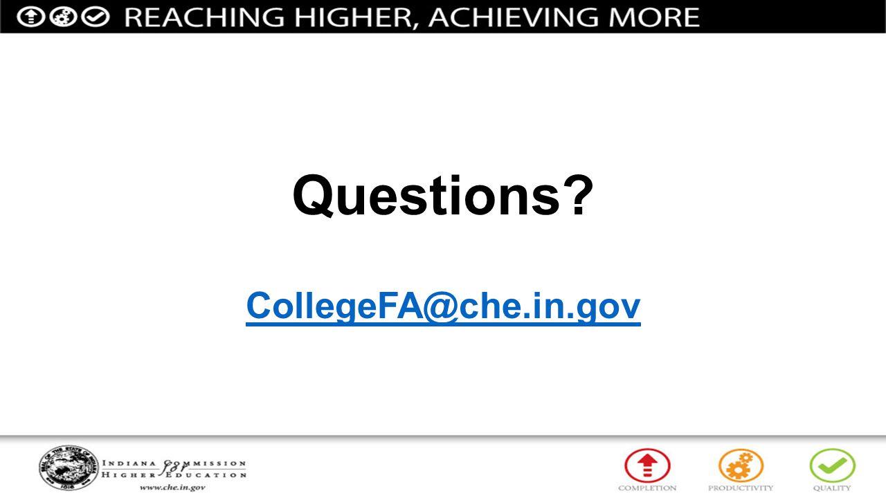 Questions CollegeFA@che.in.gov
