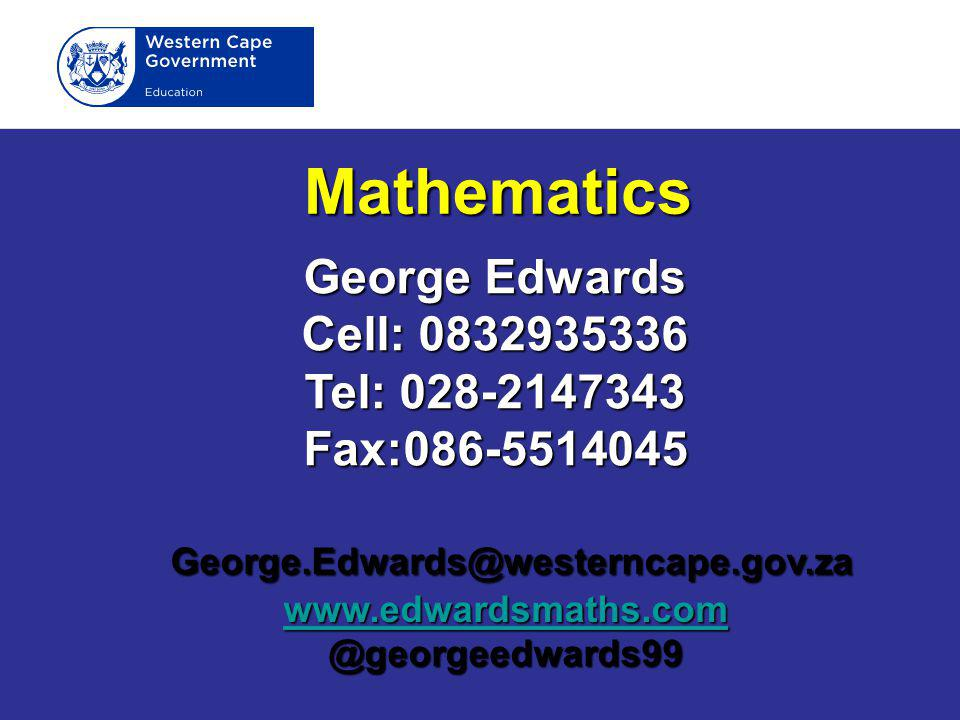 Mathematics George Edwards