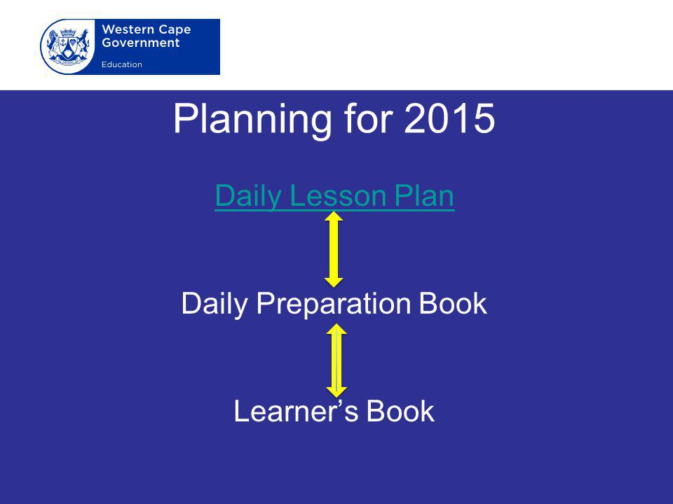 Daily Lesson Plan Daily Preparation Book Learner's Book