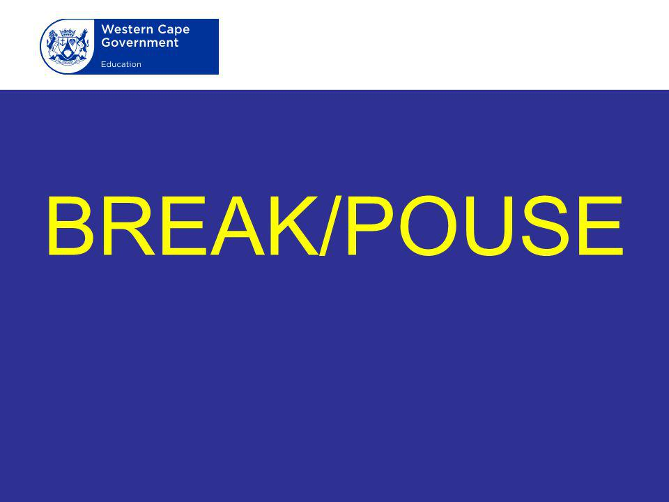 BREAK/POUSE