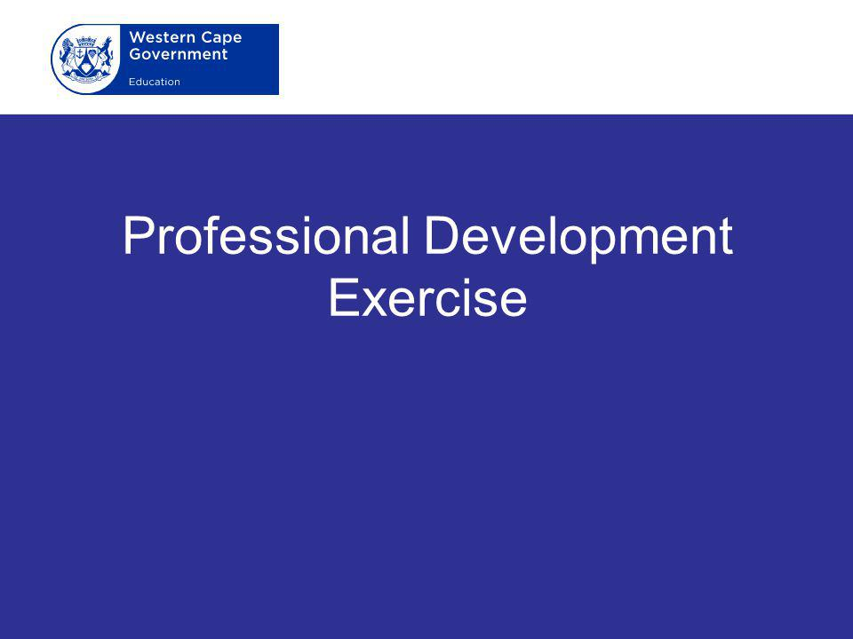 Professional Development Exercise