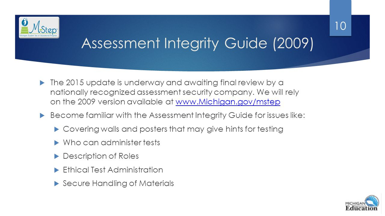 Assessment Integrity Guide (2009)